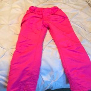 Girls L Pink snow pants